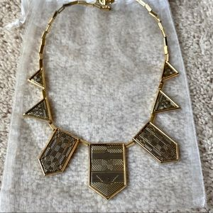 Silver and Gold Geometric House of Harlow Necklace